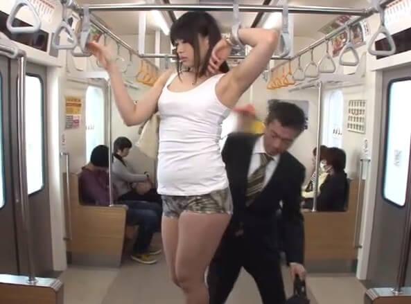 身長190cm処女の巨人 美咲玲 電車でデカ体育大生がちびっこ集団と…